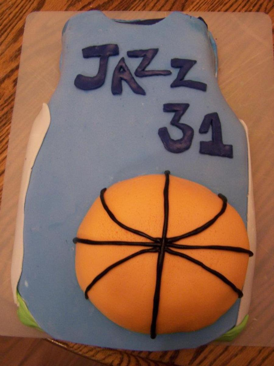Basketball Jazz Cake  on Cake Central