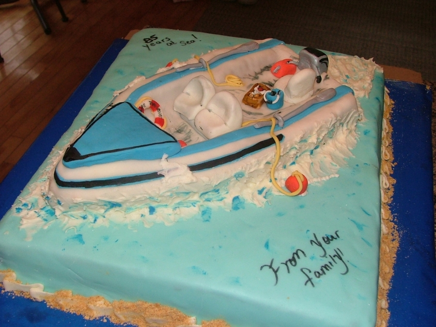 Speed Boat Cake on Cake Central