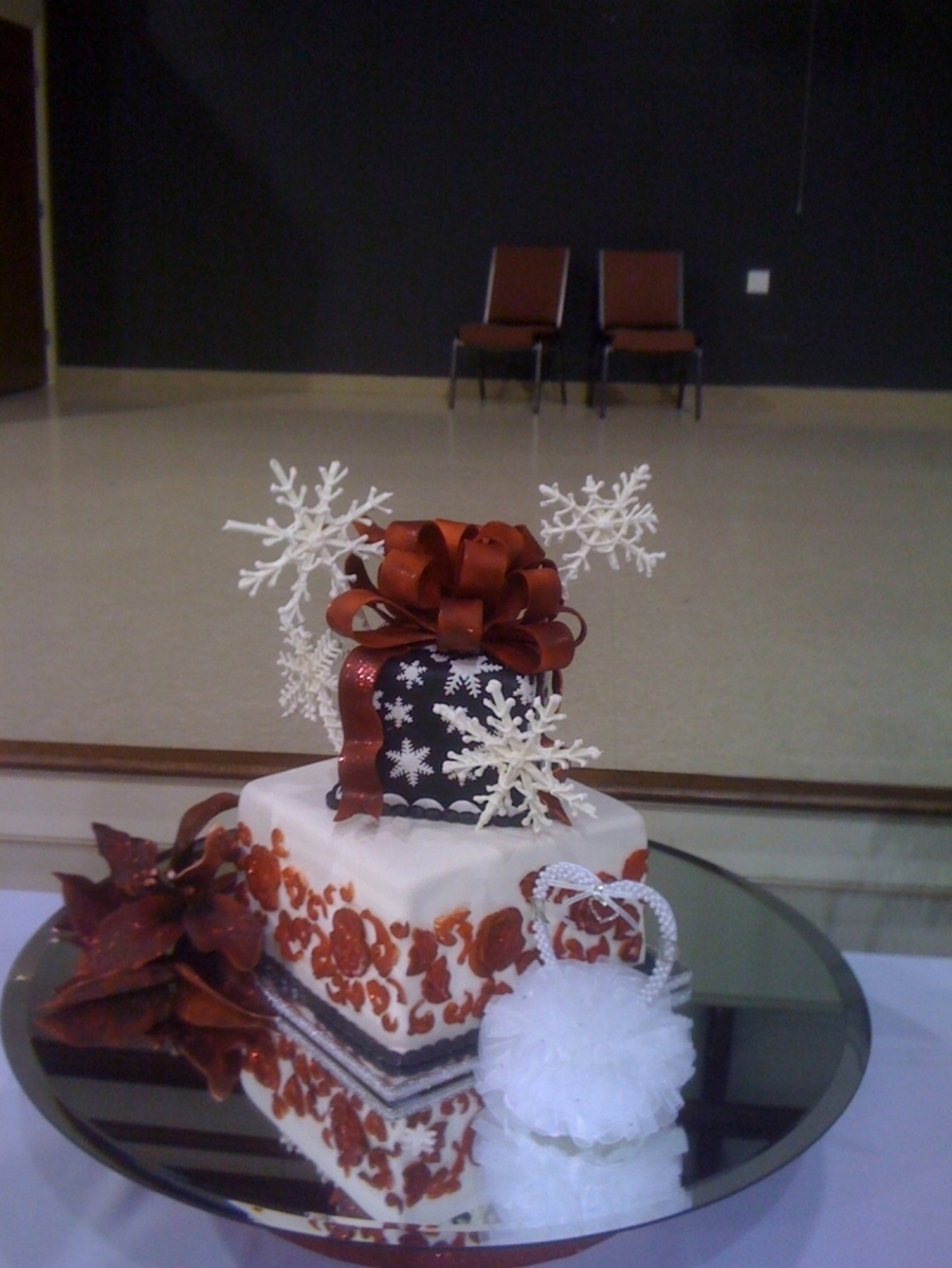 Christmas Wedding on Cake Central