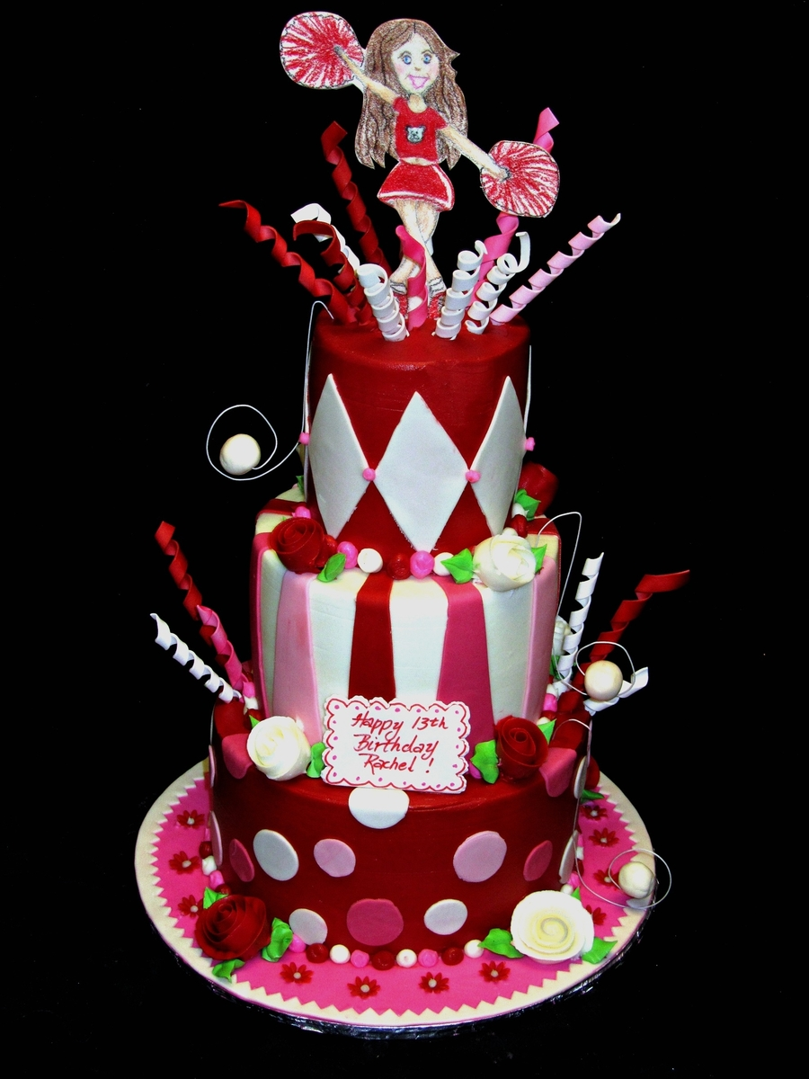 Terrific Cheerleader Birthday Cakecentral Com Funny Birthday Cards Online Fluifree Goldxyz