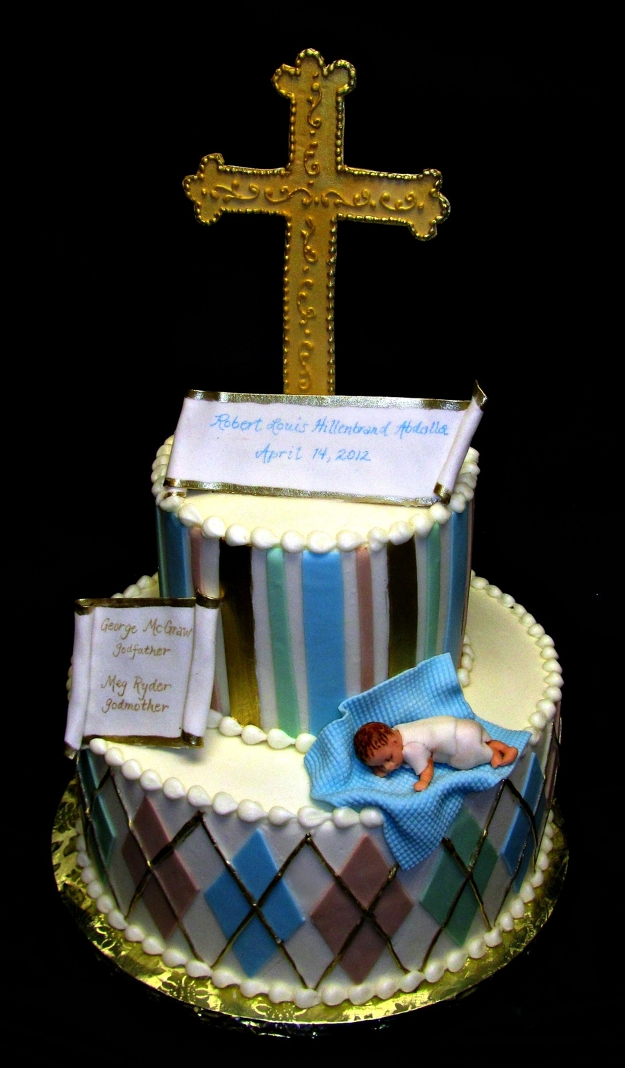 Robert's Baptism on Cake Central