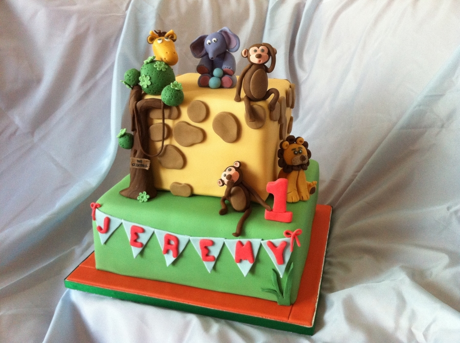 Jungle Themed Cake on Cake Central