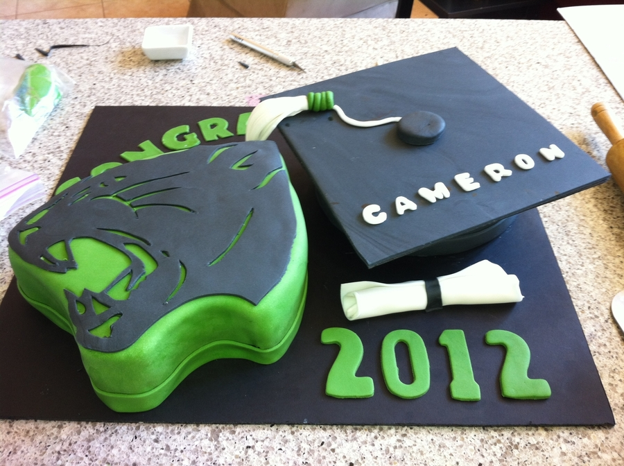 Panther's Graduation on Cake Central
