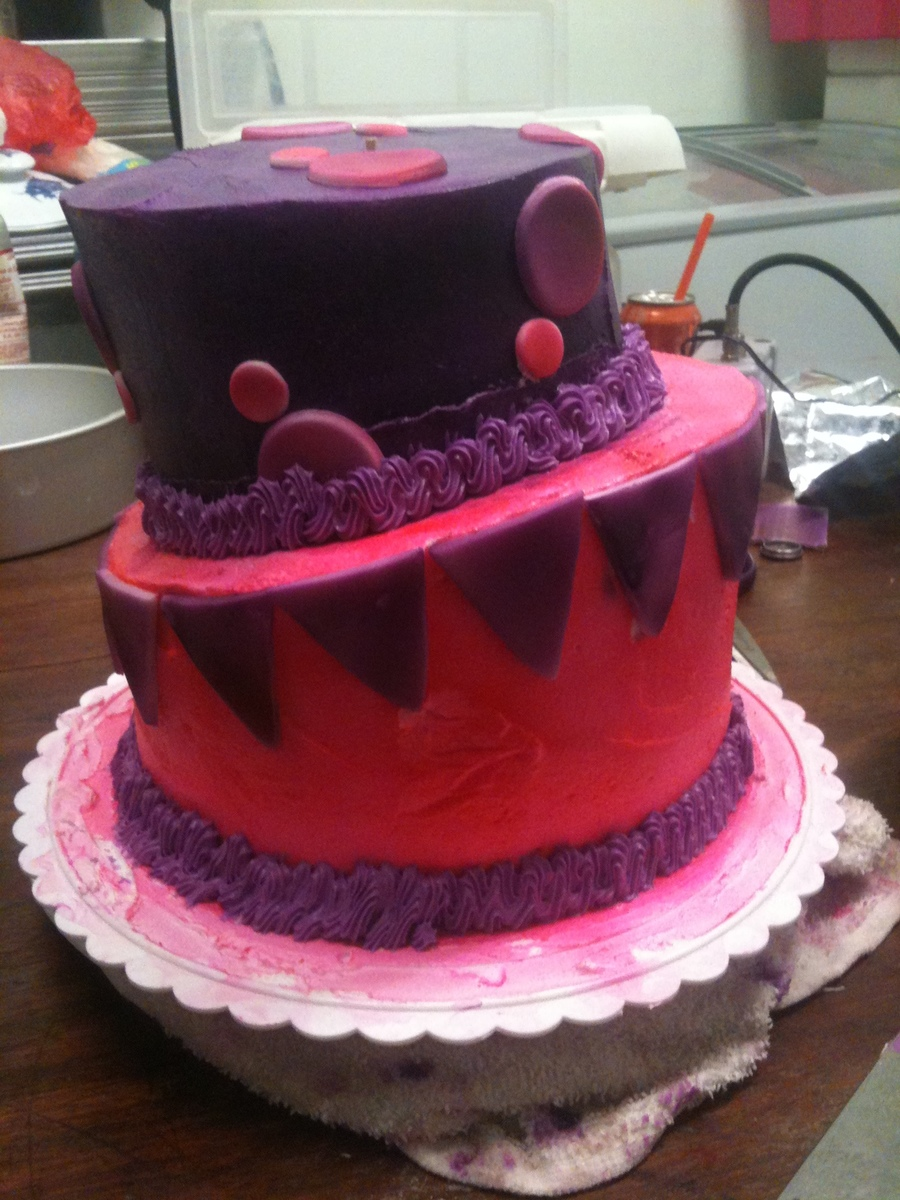 My 1St Topsy Turvy on Cake Central
