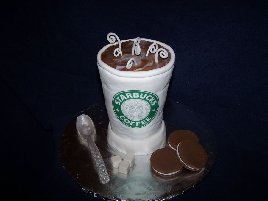 Starbucks Coffee Cup Cake - CakeCentral.com