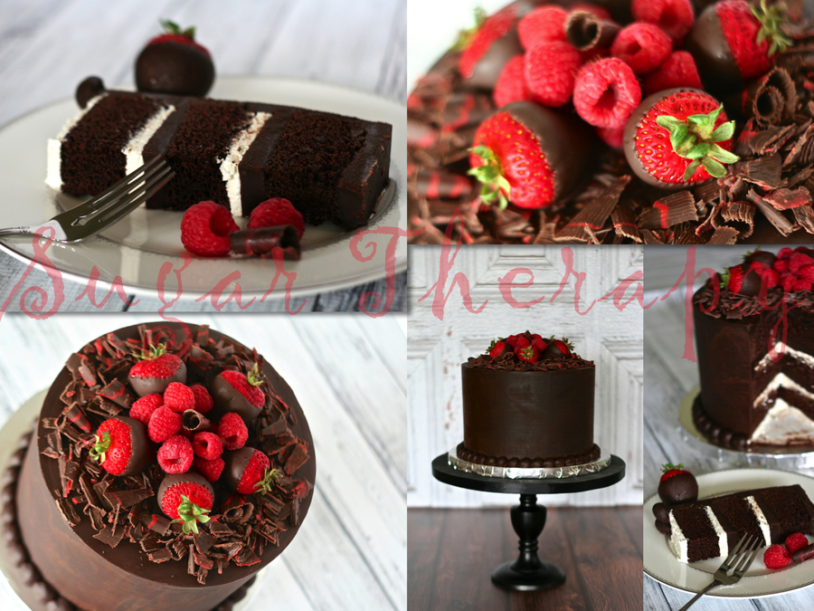 Chocolate Mud Cake With Smbc And Ganache Filling Iced In Chocolate Ganache on Cake Central