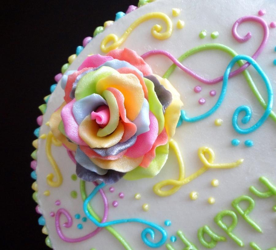 Rainbow Petal Cake How To