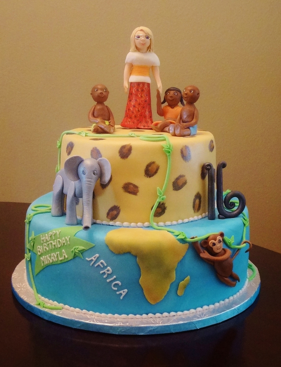 Africa Themed 16Th Birthday Cake  on Cake Central