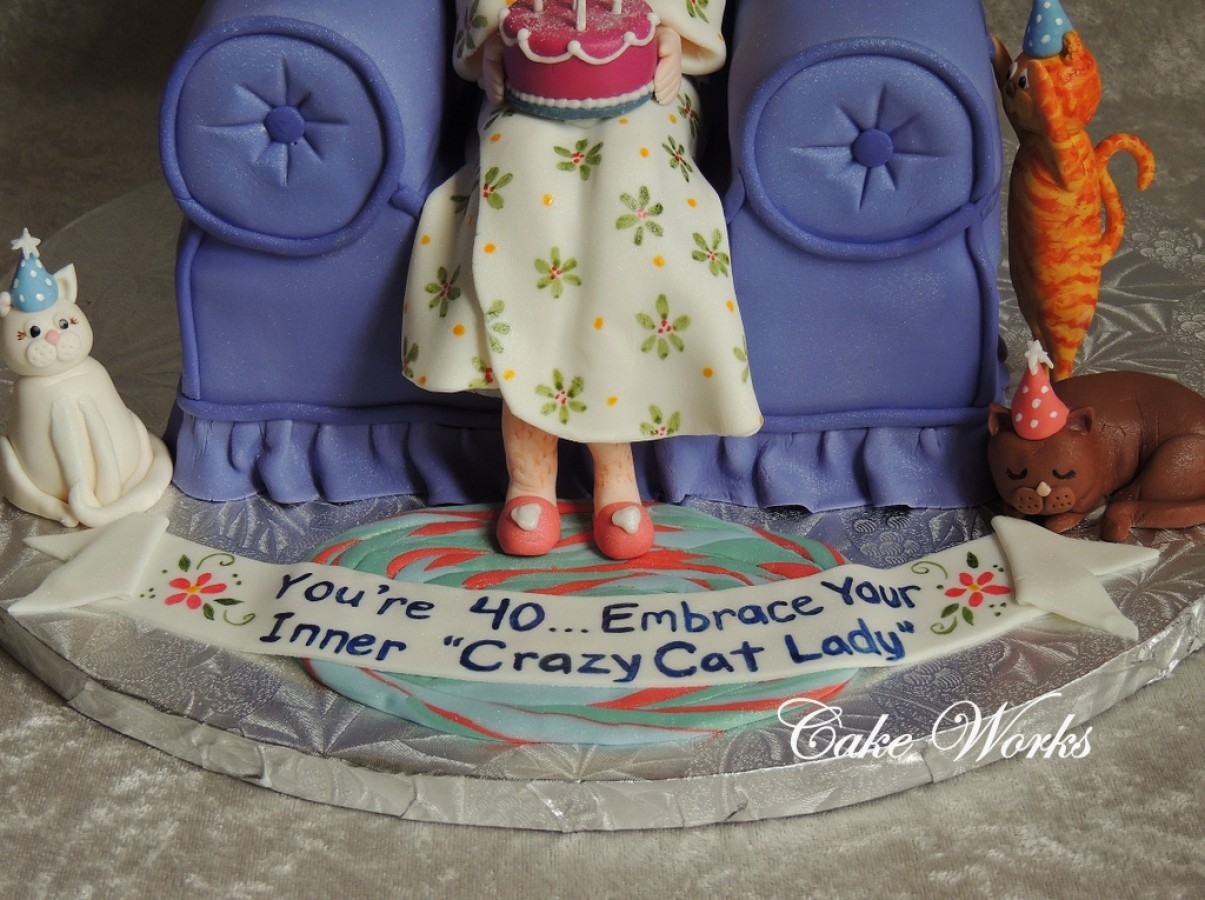 40th Birthday Crazy Cat Lady Cakecentral