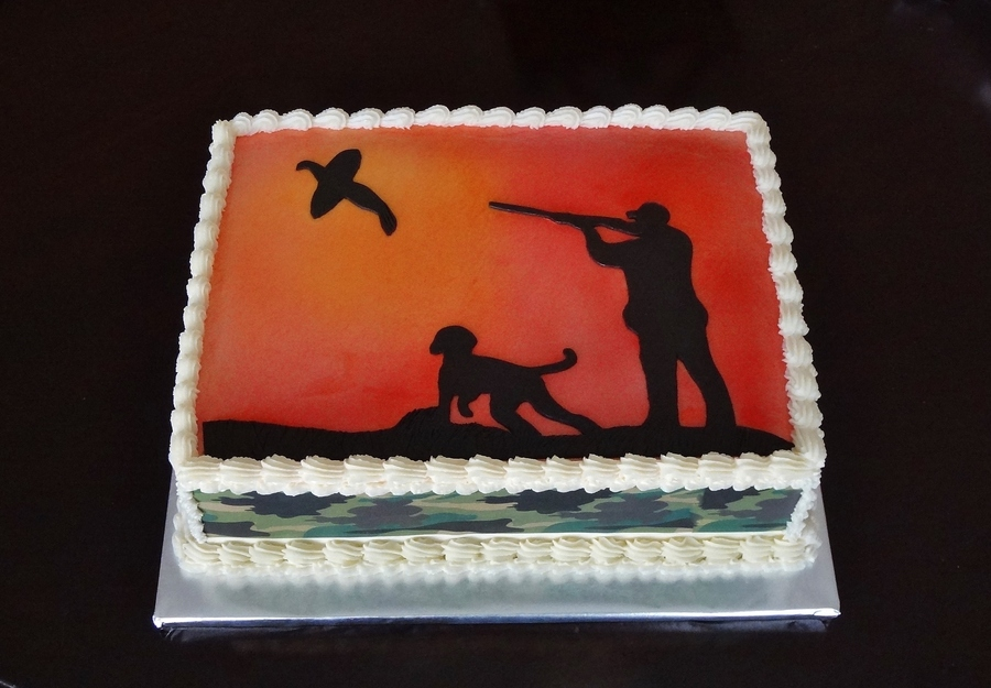 Hunting Silhouette  on Cake Central