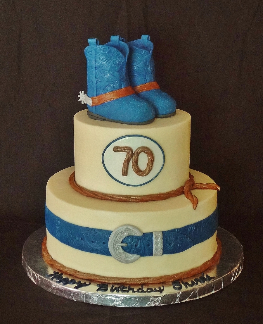 Boots Spurs And Belt 70th Birthday Cakecentral
