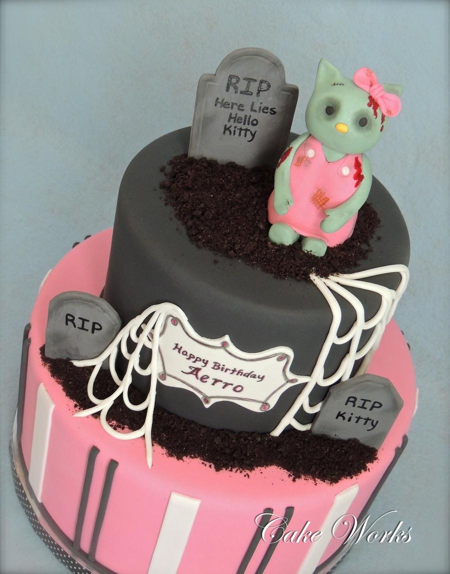 Zombie Hello Kitty Cake Zombie Hello Kitty - C...