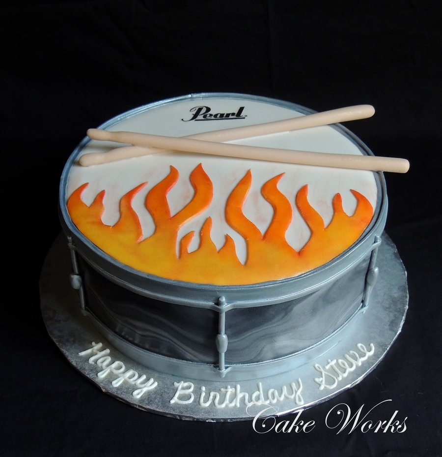 Flaming Drum on Cake Central