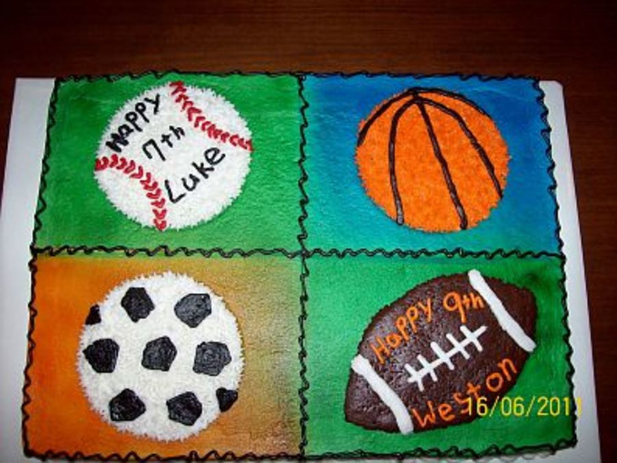 Sports Birthday Cake Cakecentral