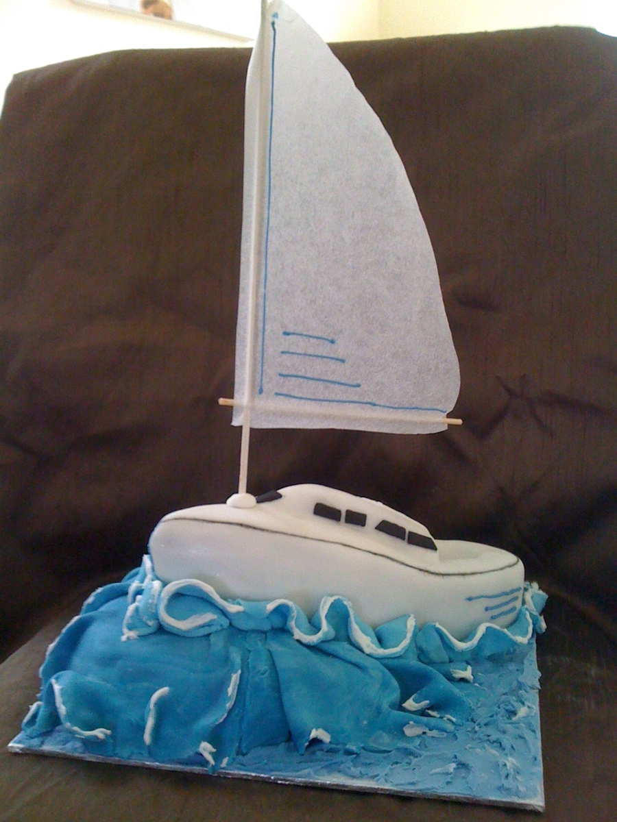 Excellent Sail Boat Birthday Cake Cakecentral Com Birthday Cards Printable Trancafe Filternl