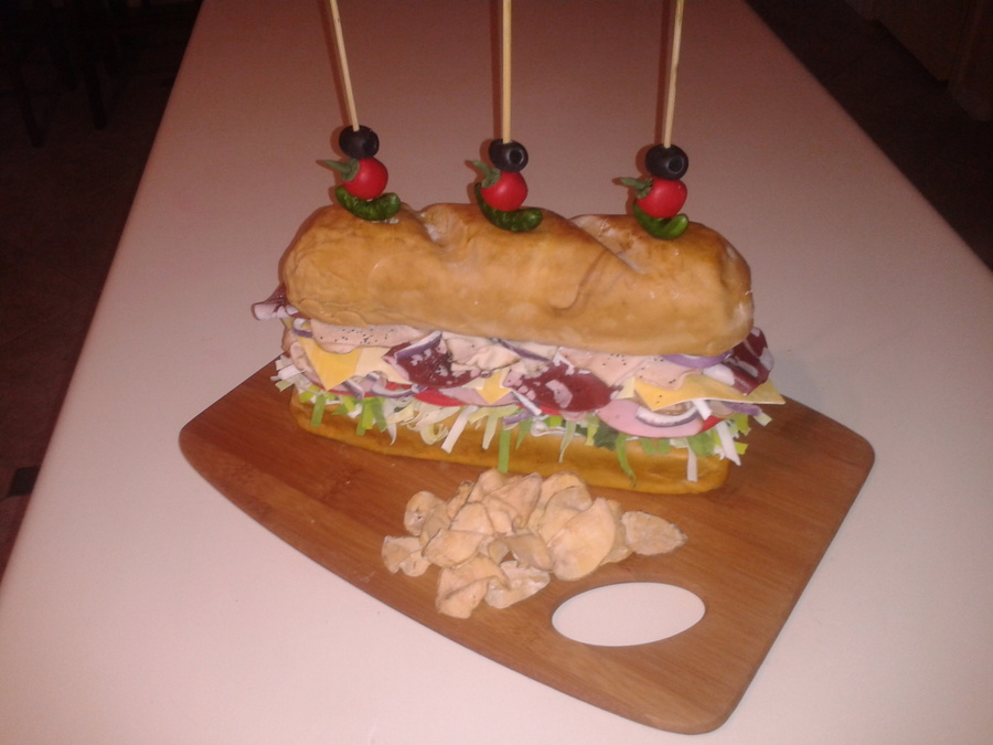 Sub Sandwich Cake on Cake Central