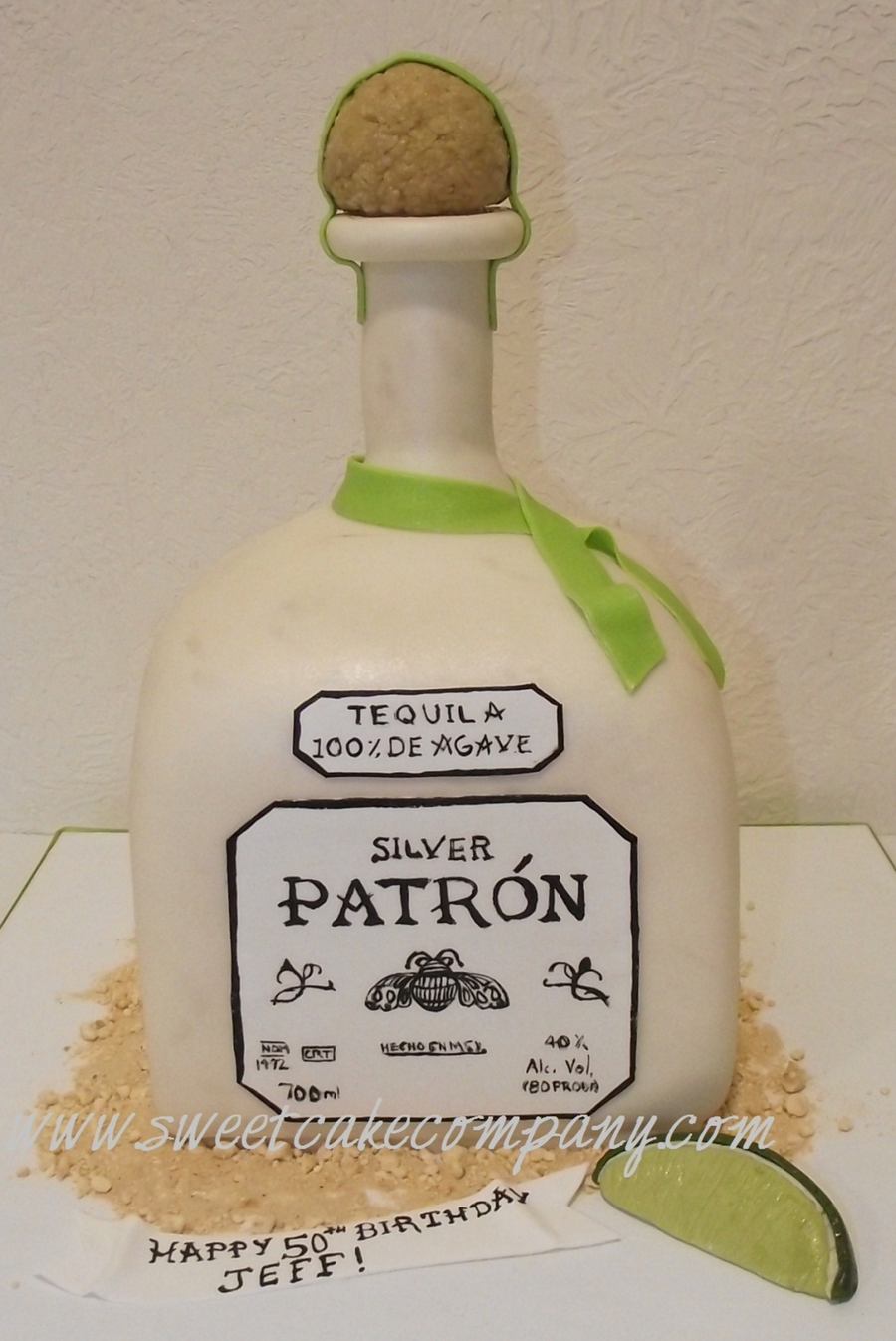 Silver Patron Bottle Cake  on Cake Central