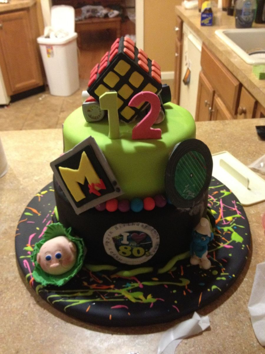 80S Themed Cake I Made For My Daughters Birthday on Cake Central