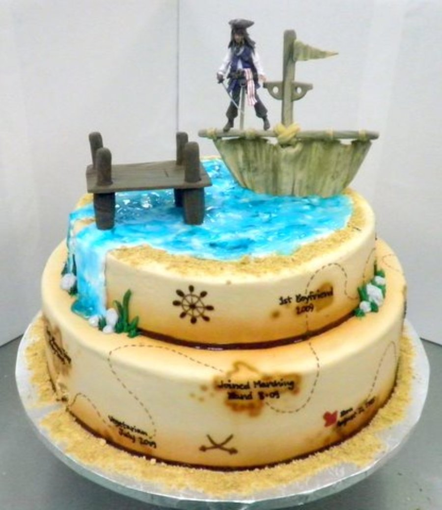 Pirates Of The Caribbean Sweet 16 Cakecentral Com