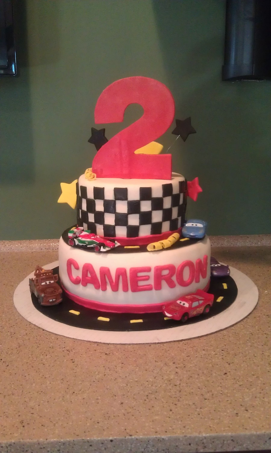 Cars Race Track Cake! on Cake Central