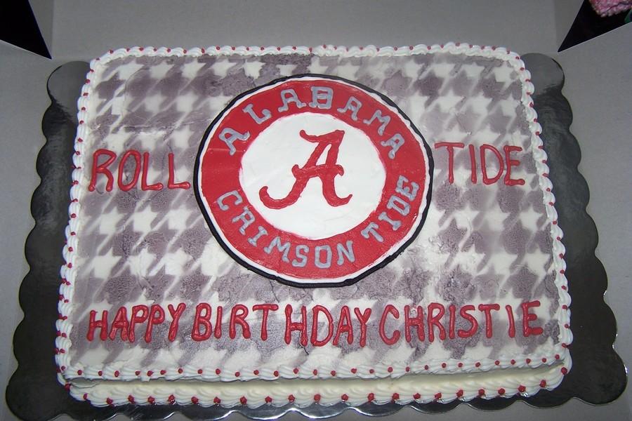 Astounding Alabama Birthday Cake Cakecentral Com Personalised Birthday Cards Veneteletsinfo
