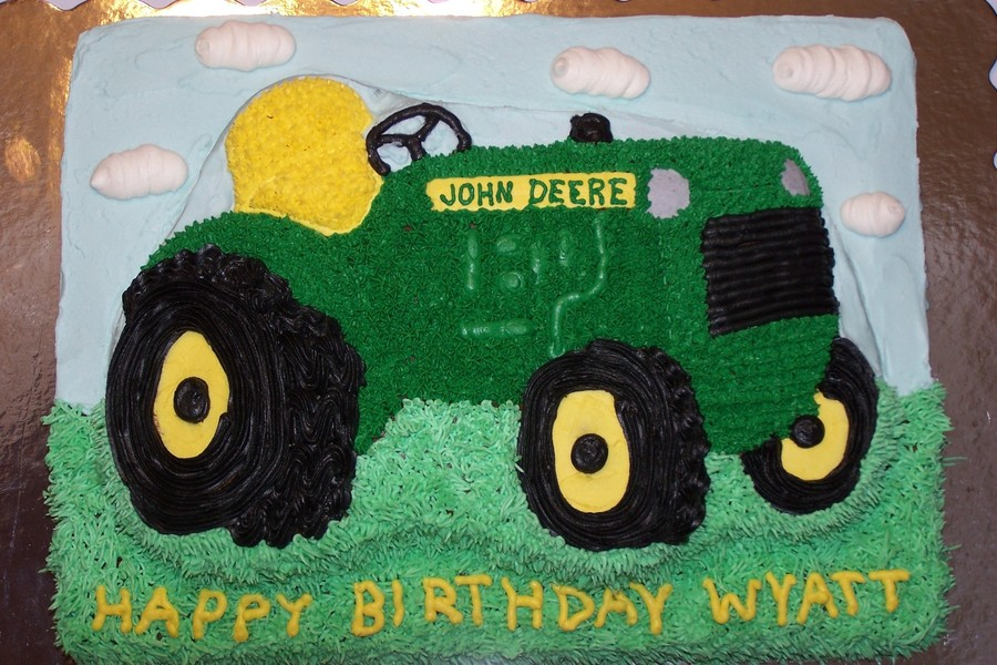 John Deere Tractor Birthday Cake CakeCentralcom