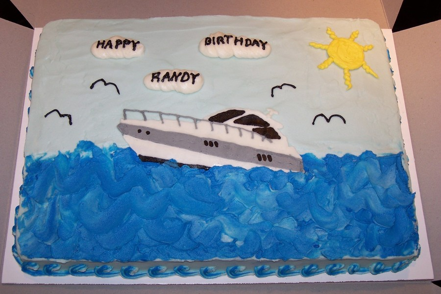 Miraculous Speed Boat Birthday Cake Cakecentral Com Birthday Cards Printable Trancafe Filternl