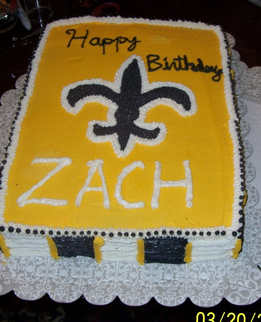 Saints Birthday Cake - CakeCentral.com