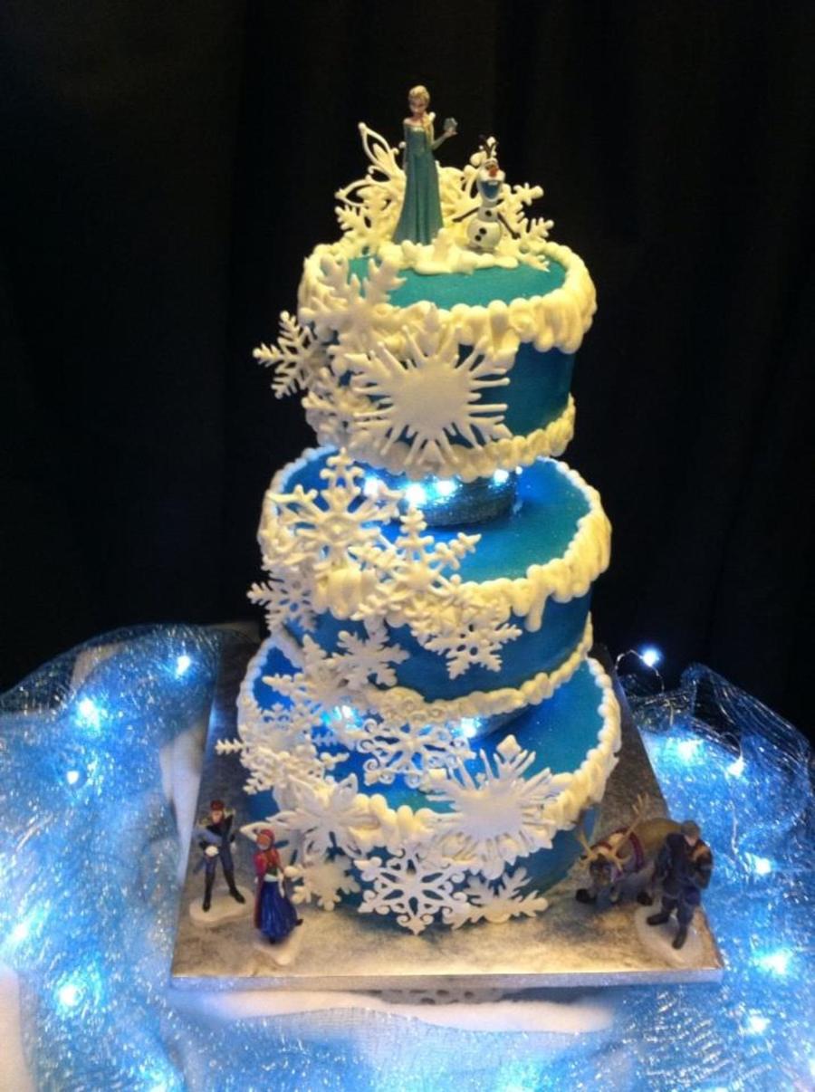 Frozen Snowflake Cake Cakecentral Com