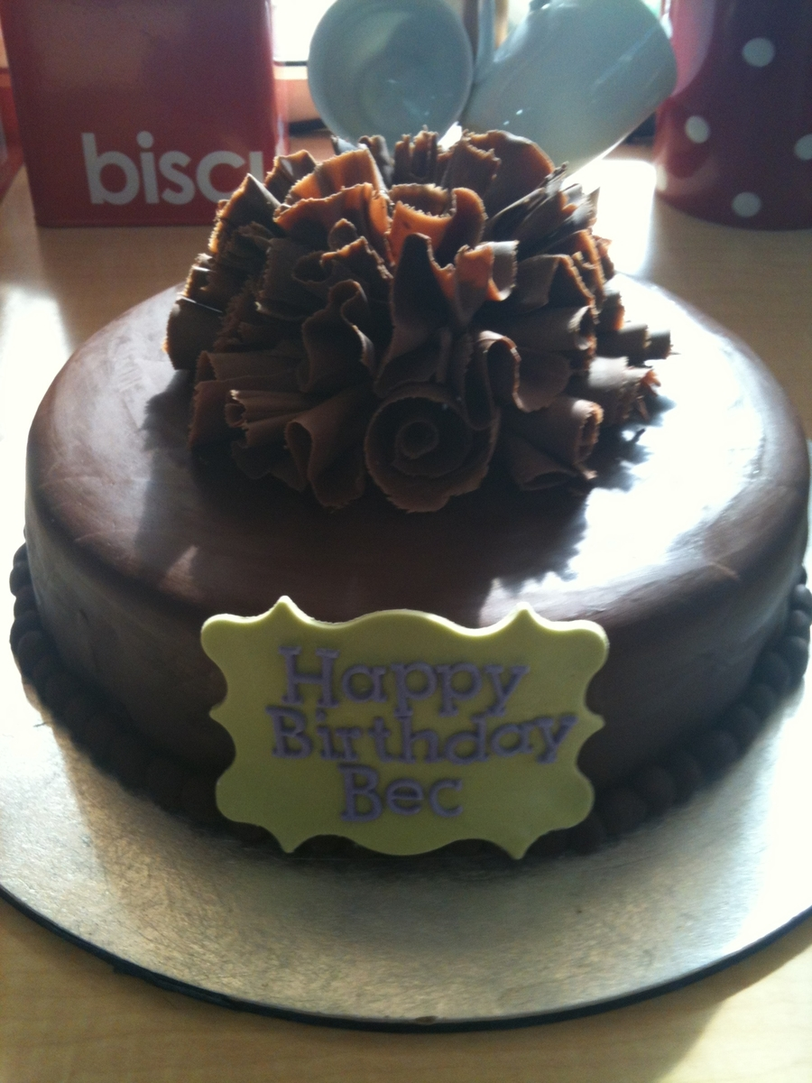 Chocolate Mud Cake With Chocolate Paste And Chocolate Curls on Cake Central