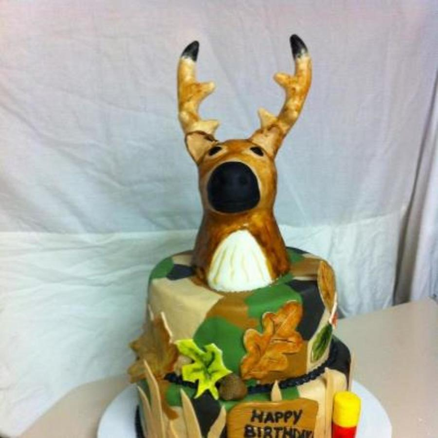 Deer Head/ Camo Fondant on Cake Central
