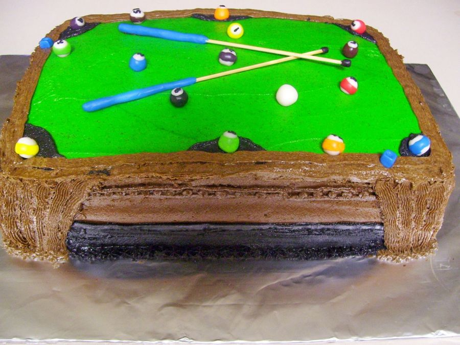 Pool Table on Cake Central