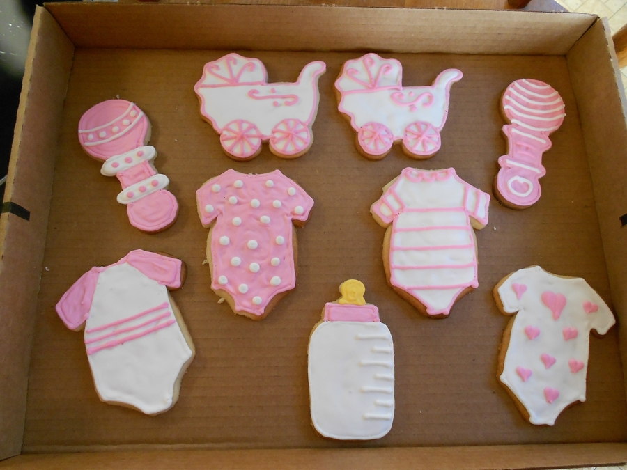 Girl Baby Shower Cookies on Cake Central