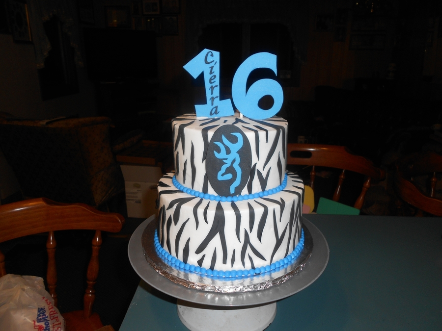 Browning Sweet 16 on Cake Central