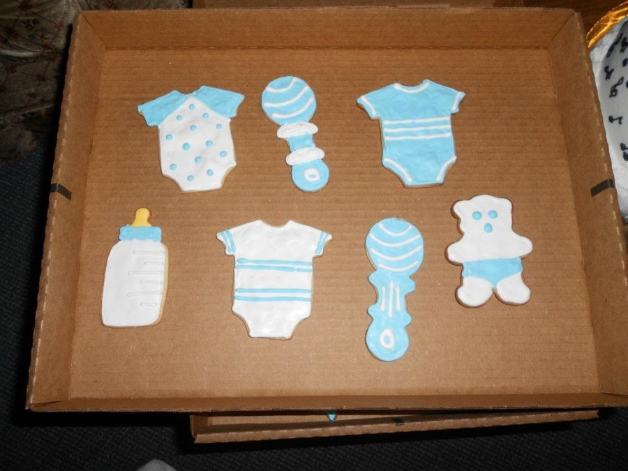 Boy Baby Shower Cookies on Cake Central