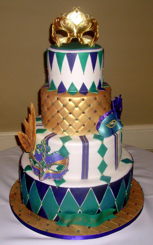 Mardi Gras Cakes Designs