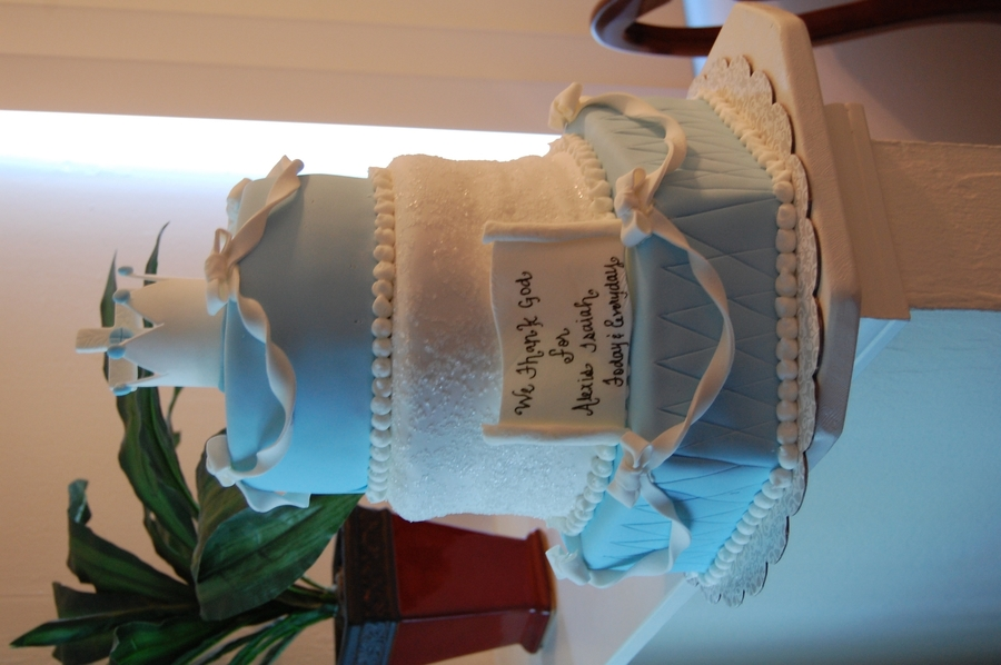 Boys First Communion Cake on Cake Central