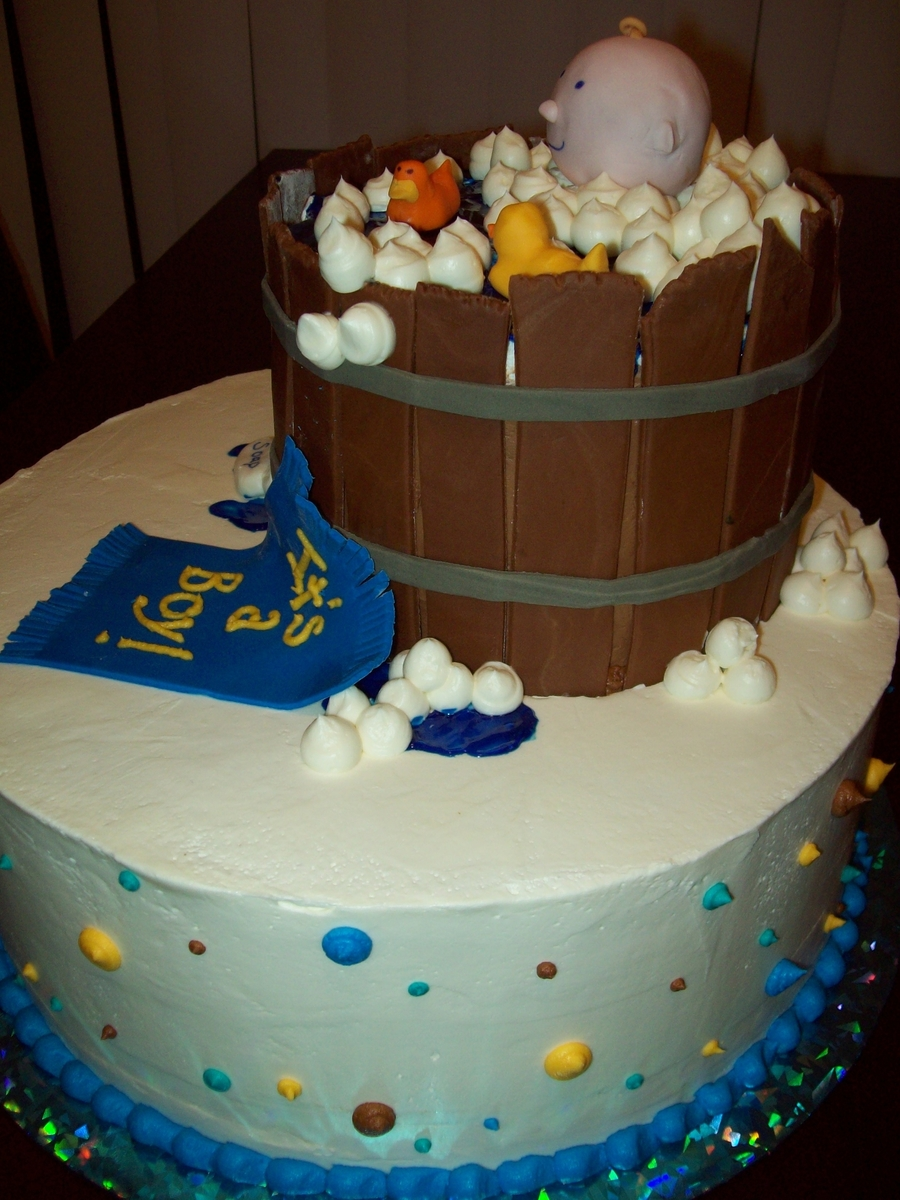Baby In A Tub Shower Cake - CakeCentral.com