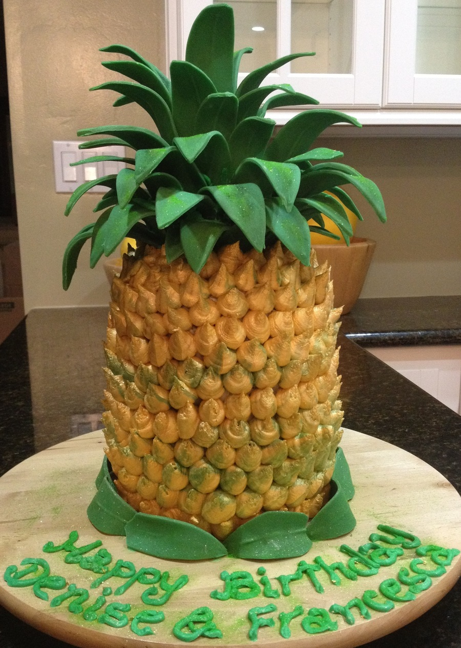 Pineapple Cake  on Cake Central