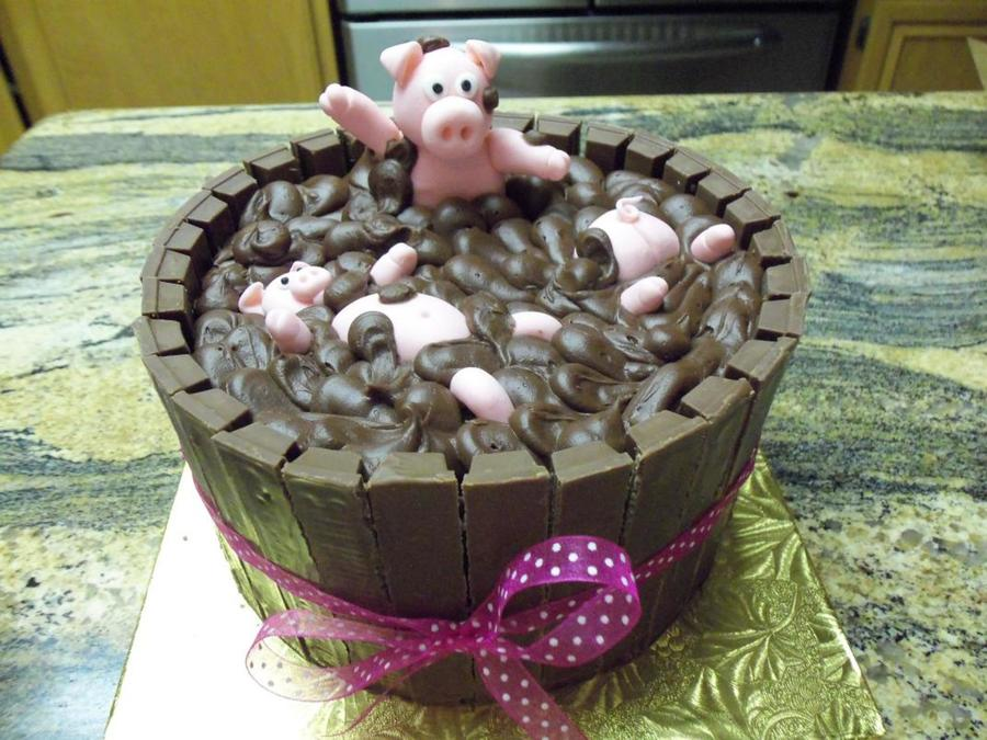Birthday Pig Sty - CakeCentral.com
