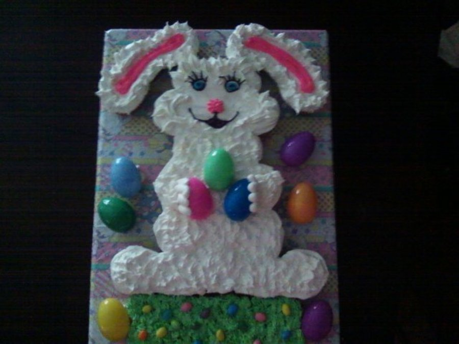 Easter Bunny Cupcake Cake. on Cake Central