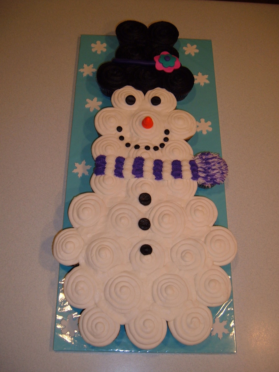 Snowman Cupcake Cake on Cake Central