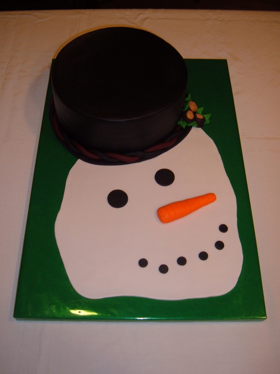 Melted Snowman on Cake Central