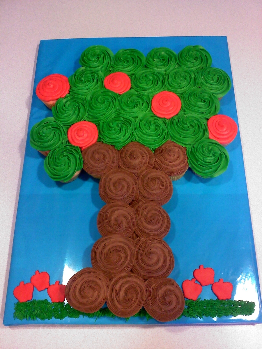 Cupcake Apple Tree  on Cake Central