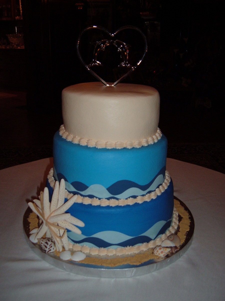 Ocean Wedding Cake  on Cake Central