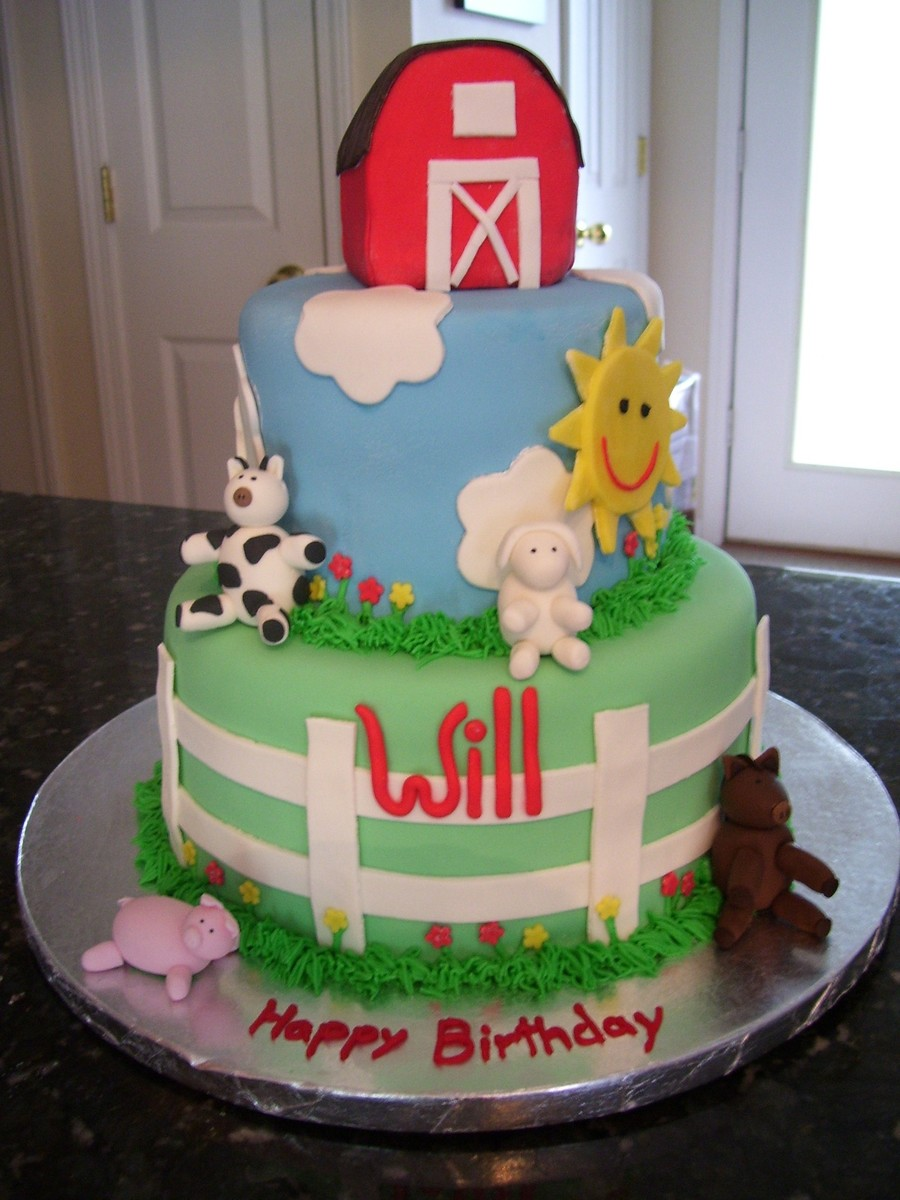 Barnyard Birthday Cake! on Cake Central