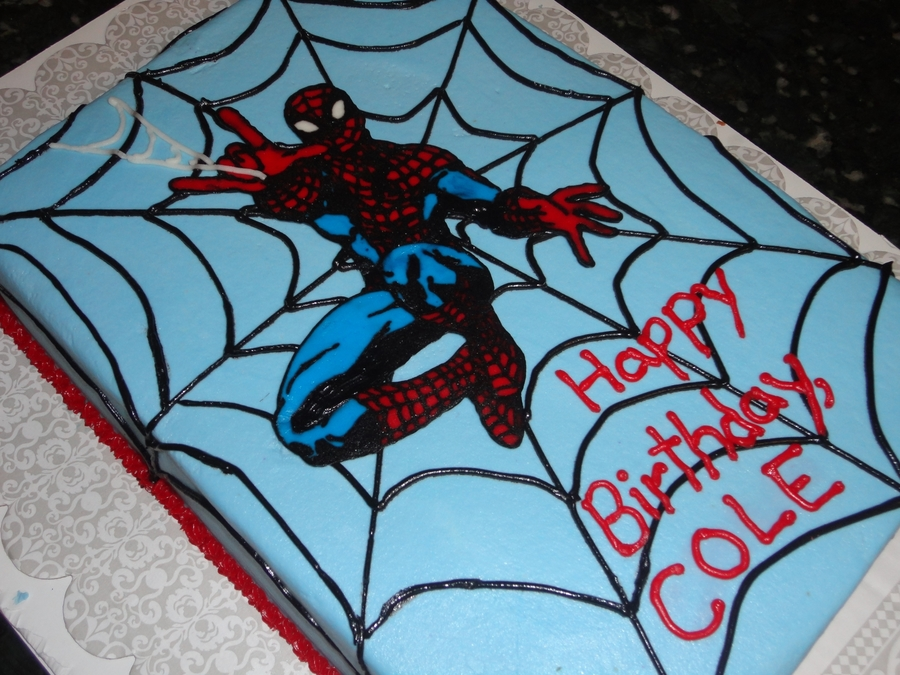 Spiderman! Spiderman!  on Cake Central