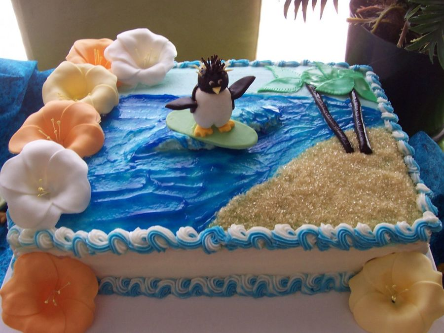 Surf's Up Birthday  on Cake Central