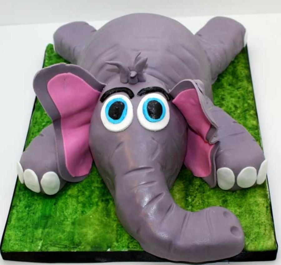 Elephant Theme 3rd Birthday Party: Sculpted Elephant Cake For A Boys Third Birthday