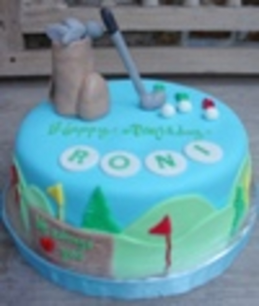 Golf Cake Theme on Cake Central